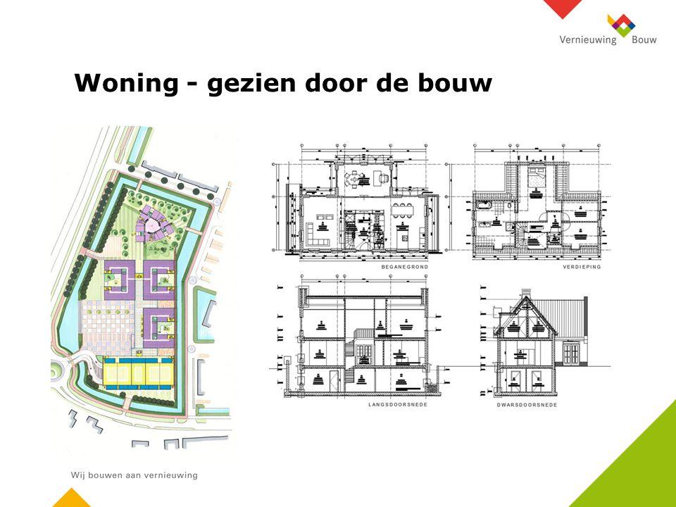 Woning - gezien door de bouw
