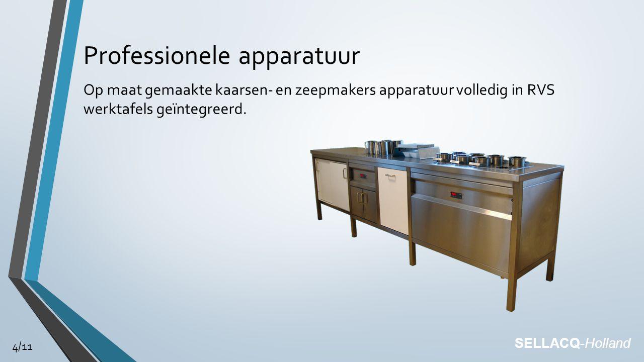 Professionele apparatuur Op maat gemaakte kaarsen- en zeepmakers apparatuur volledig in RVS werktafels geïntegreerd.