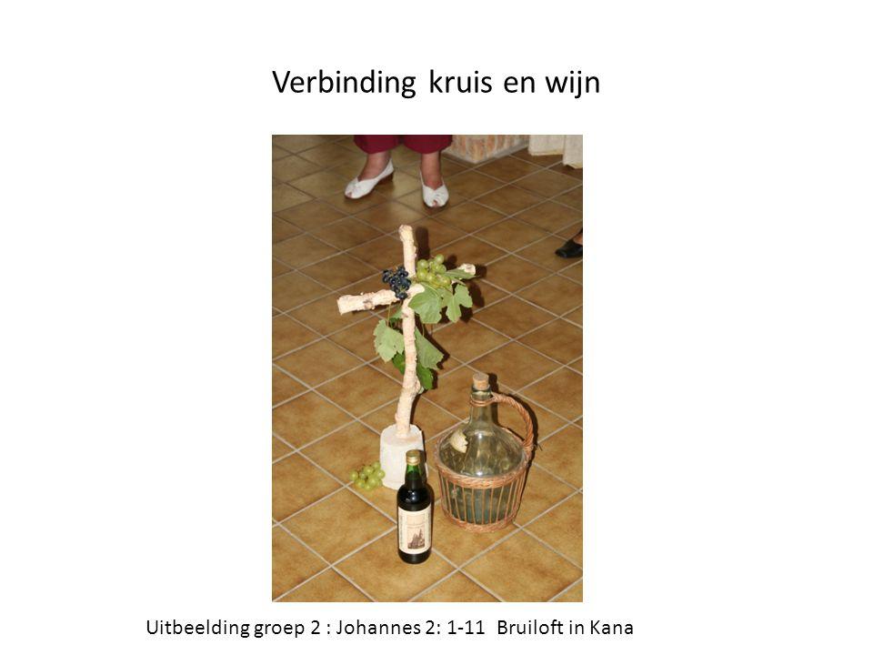 Verbinding kruis en wijn Uitbeelding groep 2 : Johannes 2: 1-11 Bruiloft in Kana