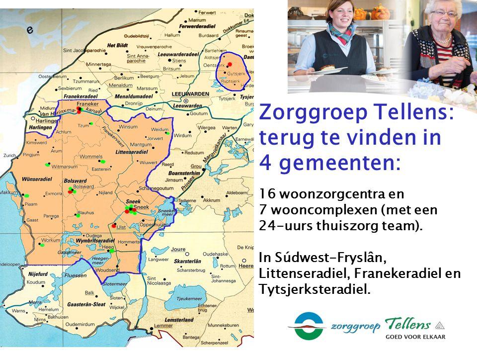 Zorggroep Tellens: terug te vinden in 4 gemeenten: 16 woonzorgcentra en 7 wooncomplexen (met een 24-uurs thuiszorg team).