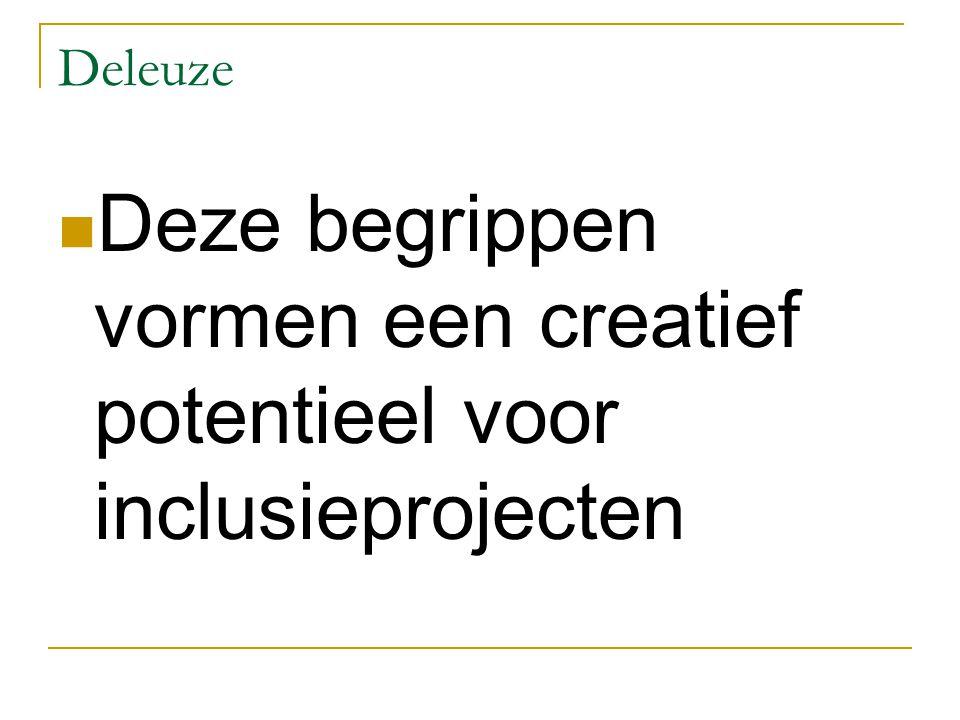 Deleuze Deze begrippen vormen een creatief potentieel voor inclusieprojecten