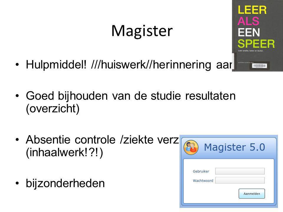 Magister Hulpmiddel.