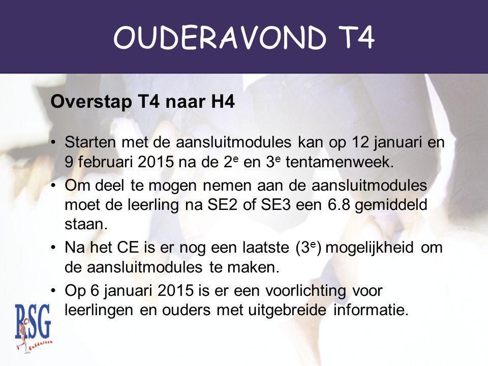 OUDERAVOND T4 De leerling staat na het CE gemiddeld een 6.8.
