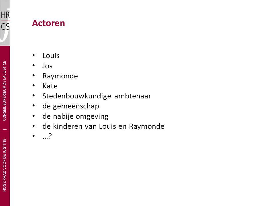 Louis Jos Raymonde Kate Stedenbouwkundige ambtenaar de gemeenschap de nabije omgeving de kinderen van Louis en Raymonde …? HOGE RAAD VOOR DE JUSTITIE
