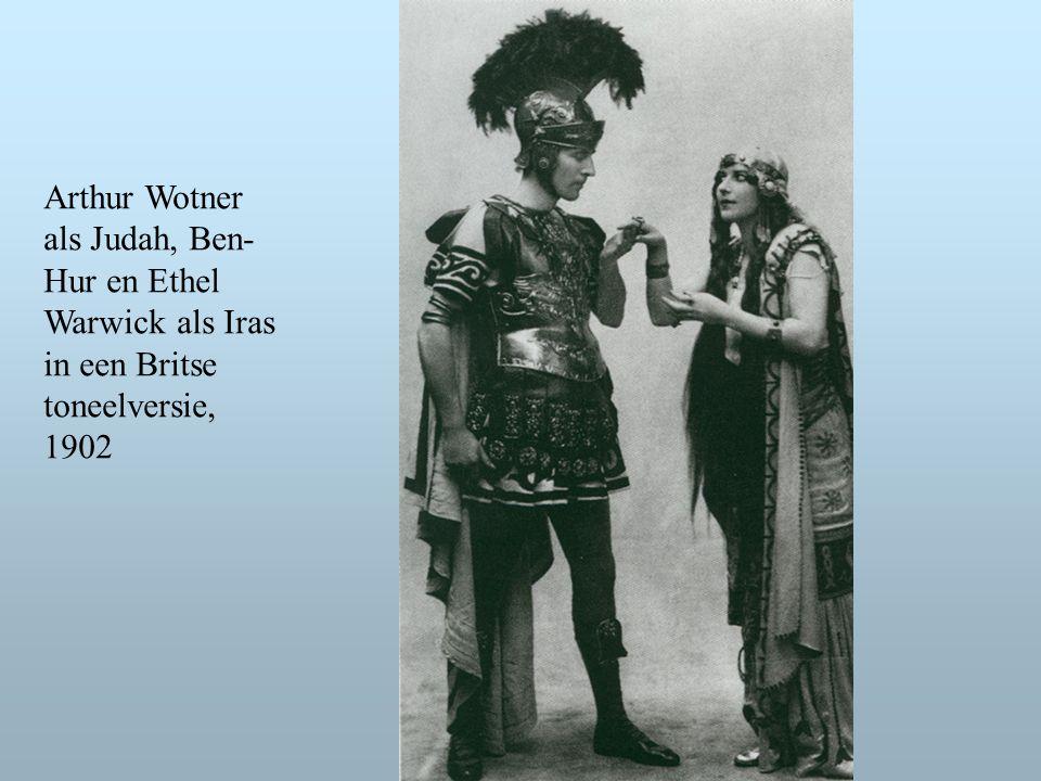 Arthur Wotner als Judah, Ben- Hur en Ethel Warwick als Iras in een Britse toneelversie, 1902