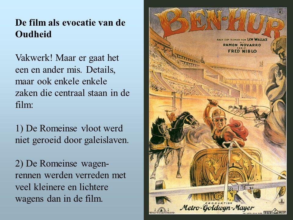 De film als evocatie van de Oudheid Vakwerk. Maar er gaat het een en ander mis.