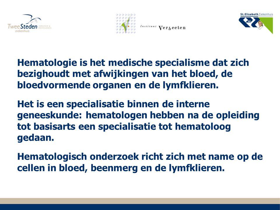 2015 Zorg post autologe stamceltransplantatie Echelon C-SCT status Centreren van klinische hematologie in Zuid Formele achterwacht hematologie