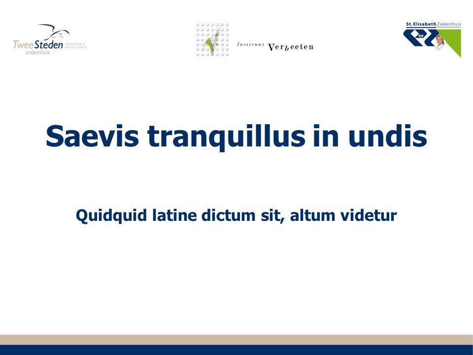 Saevis tranquillus in undis Quidquid latine dictum sit, altum videtur