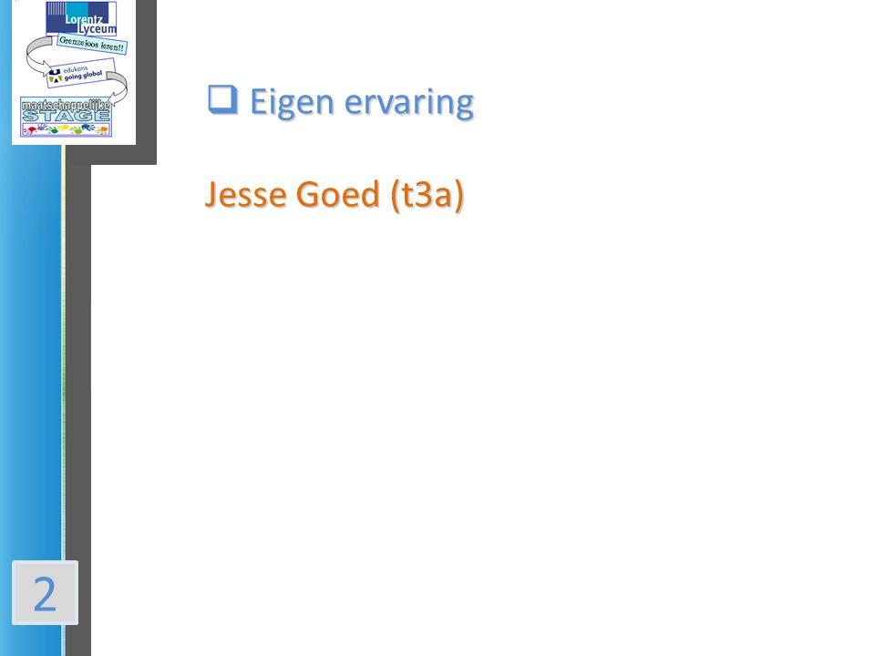 2  Eigen ervaring Jesse Goed (t3a)