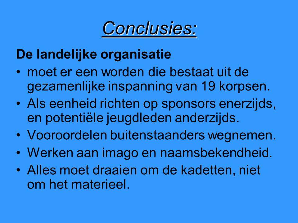 Conclusies: De landelijke organisatie moet er een worden die bestaat uit de gezamenlijke inspanning van 19 korpsen.