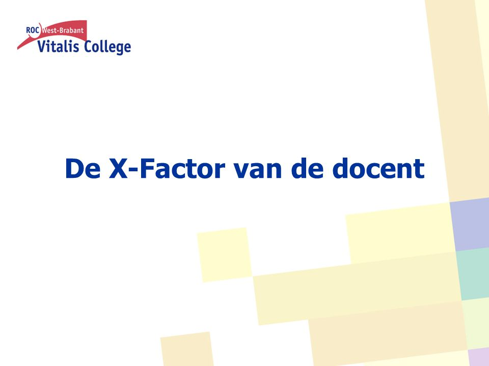 De X-Factor van de docent
