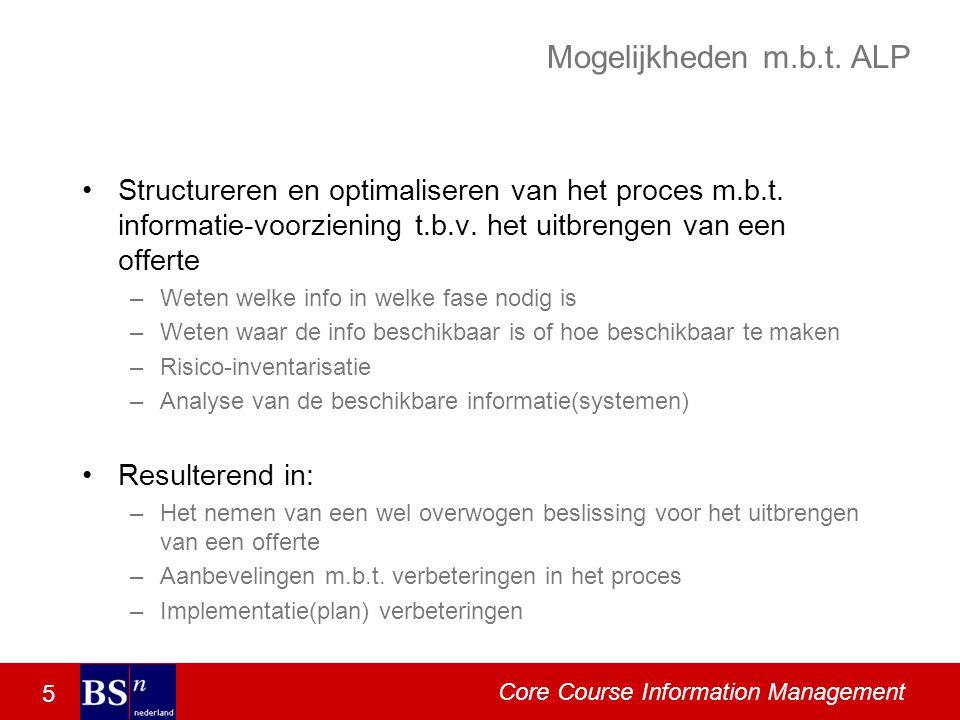 5 Core Course Information Management Mogelijkheden m.b.t.