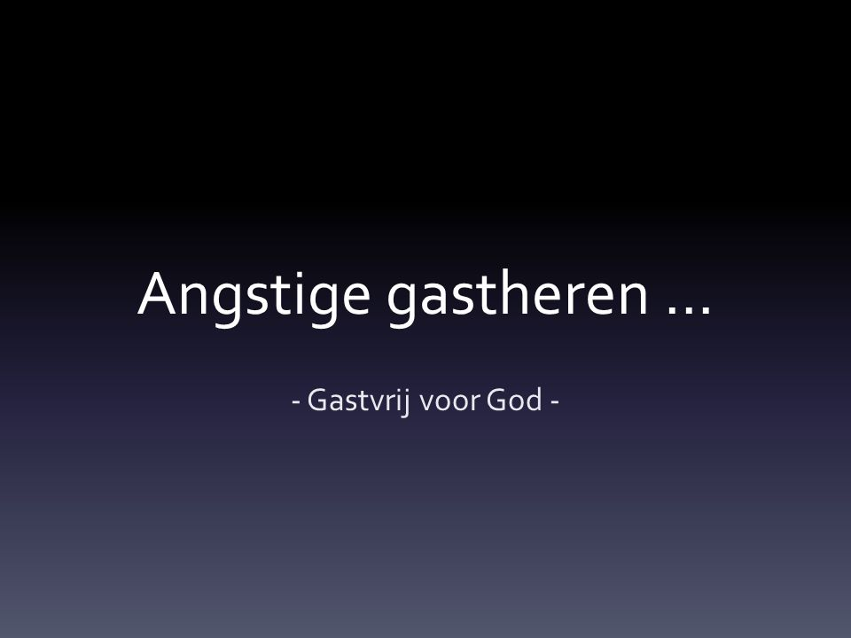 Eren door angst … …and I said to you, I am Jehovah your God; you shall not fear the gods of the Amorites, in whose land you dwell.