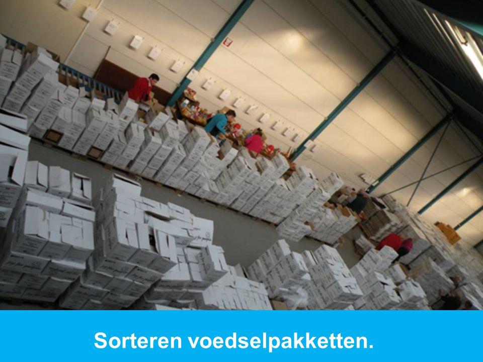 www.dorcas.nl Sorteren voedselpakketten.