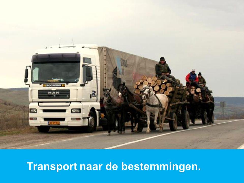 www.dorcas.nl Transport naar de bestemmingen.