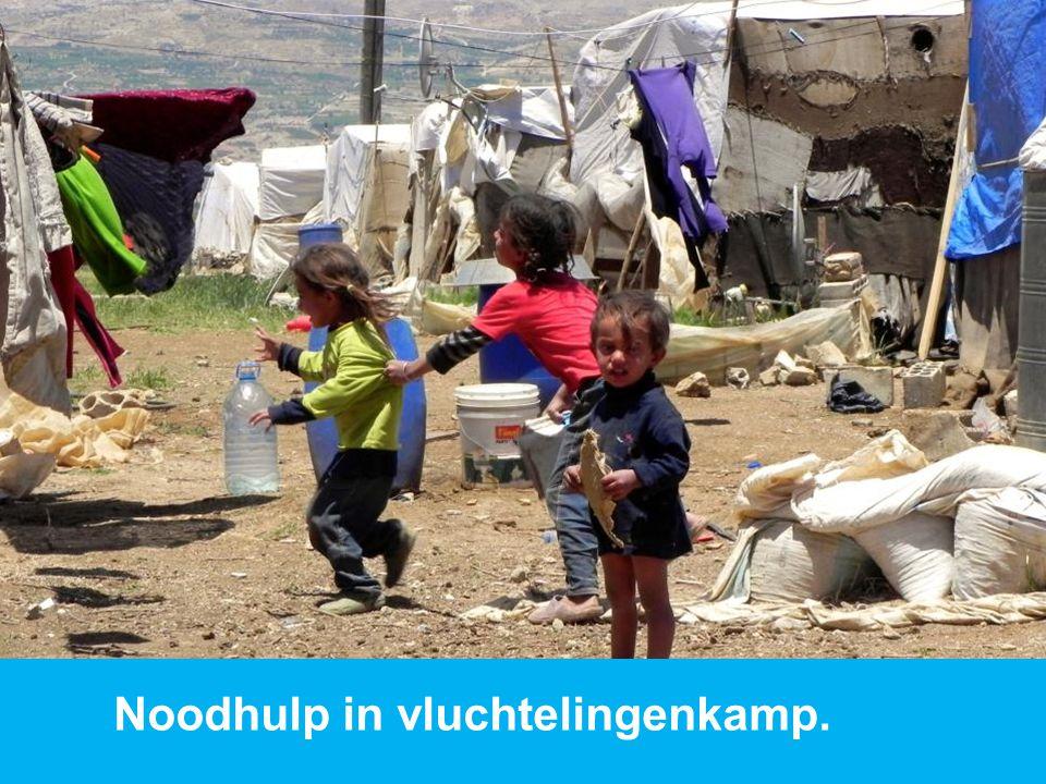 www.dorcas.nl Noodhulp in vluchtelingenkamp.