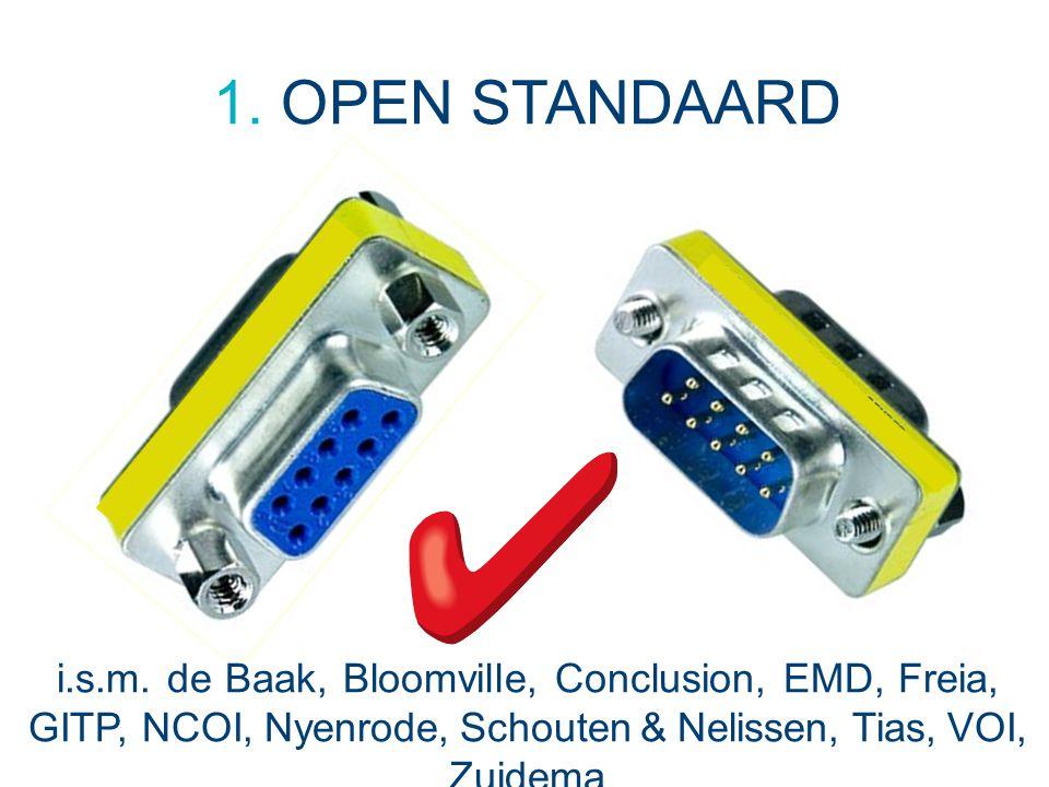 1. OPEN STANDAARD i.s.m. de Baak, Bloomville, Conclusion, EMD, Freia, GITP, NCOI, Nyenrode, Schouten & Nelissen, Tias, VOI, Zuidema