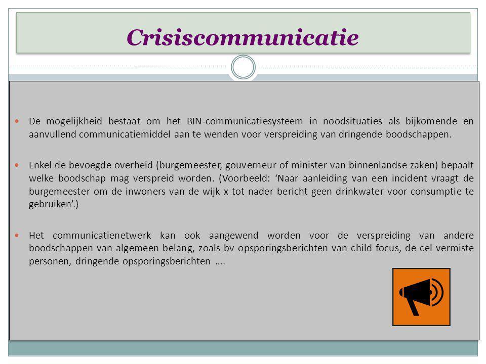 Communicatieplan Communicatieplan 1. Communicatie van het BIN naar politie:   Elk BIN-lid dat een verdachte gedraging of situatie opmerkt, contacte