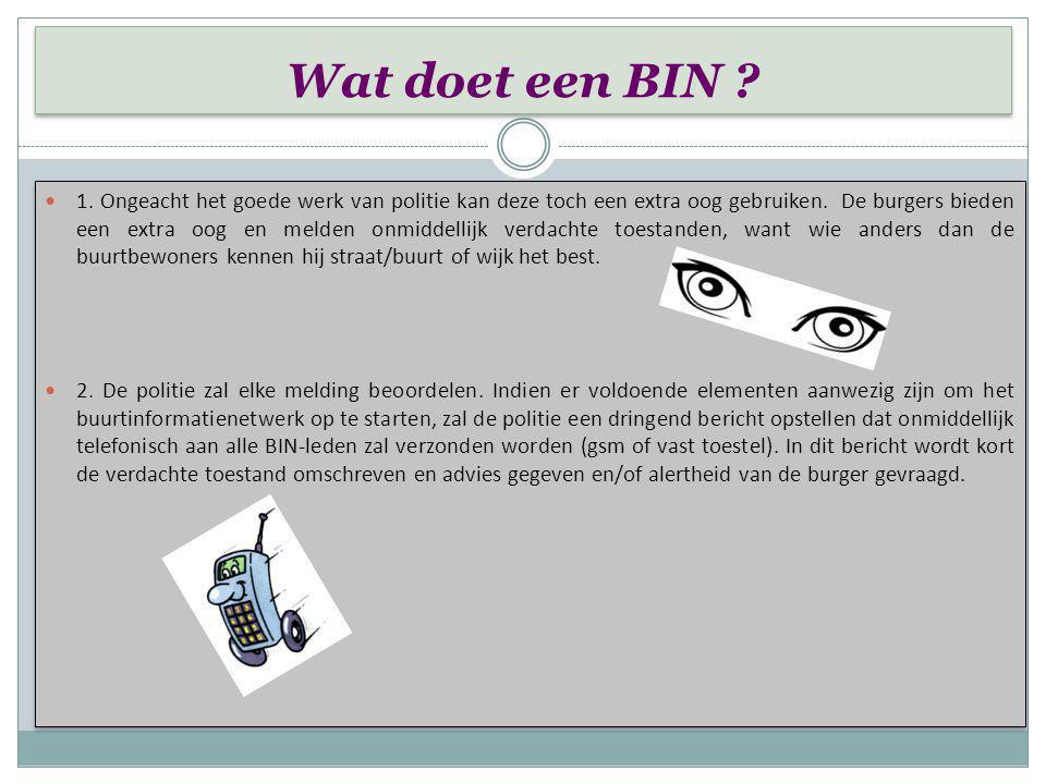 BIN-Geschiedenis BIN-Geschiedenis Het ontstaan van een BIN. 1. In de jaren 1970 waren winkels en huizen het doel van de zogenaamde Kappa bende die voo
