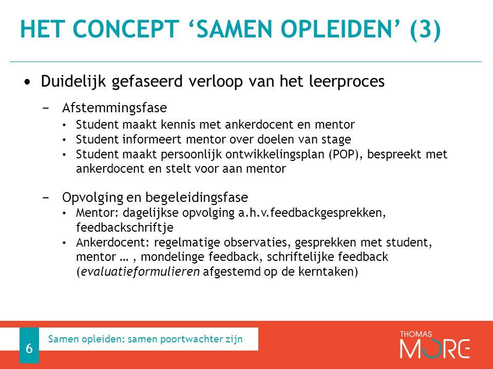 Duidelijk gefaseerd verloop van het leerproces − Afstemmingsfase Student maakt kennis met ankerdocent en mentor Student informeert mentor over doelen