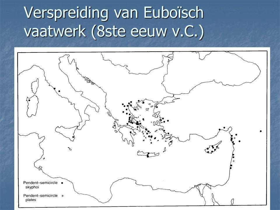 Verspreiding van Euboïsch vaatwerk (8ste eeuw v.C.)