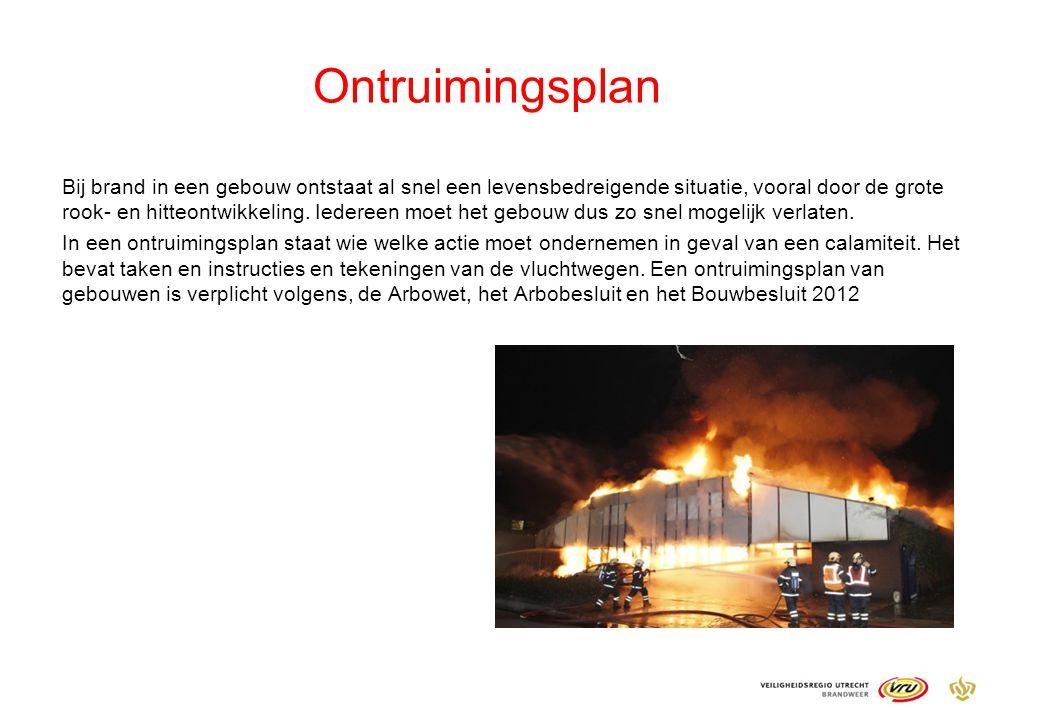 Ontruimingsplan Bij brand in een gebouw ontstaat al snel een levensbedreigende situatie, vooral door de grote rook- en hitteontwikkeling. Iedereen moe