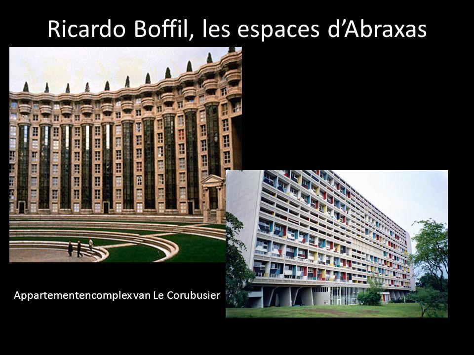 Ricardo Boffil, les espaces d'Abraxas Appartementencomplex van Le Corubusier