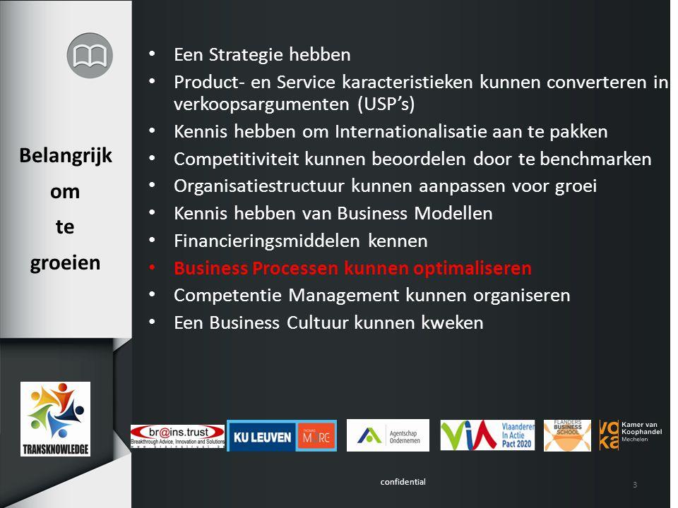 confidential 3 Belangrijk om te groeien Een Strategie hebben Product- en Service karacteristieken kunnen converteren in verkoopsargumenten (USP's) Ken