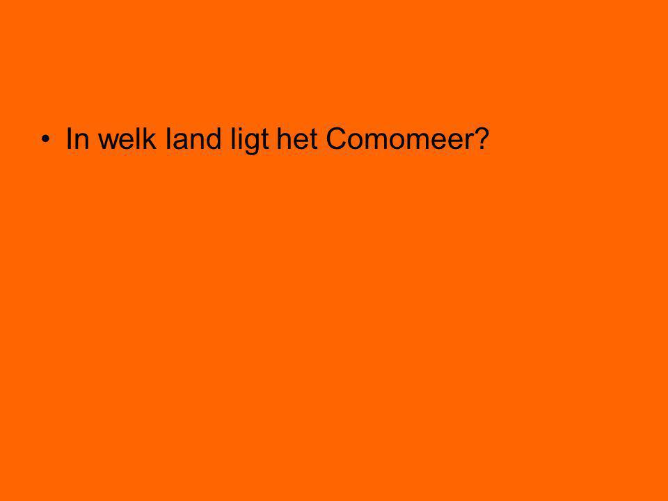 In welk land ligt het Comomeer?