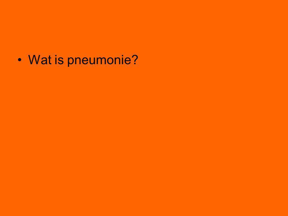 Wat is pneumonie?
