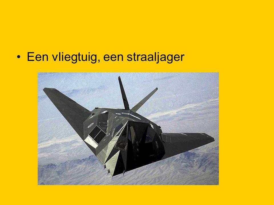 Een vliegtuig, een straaljager