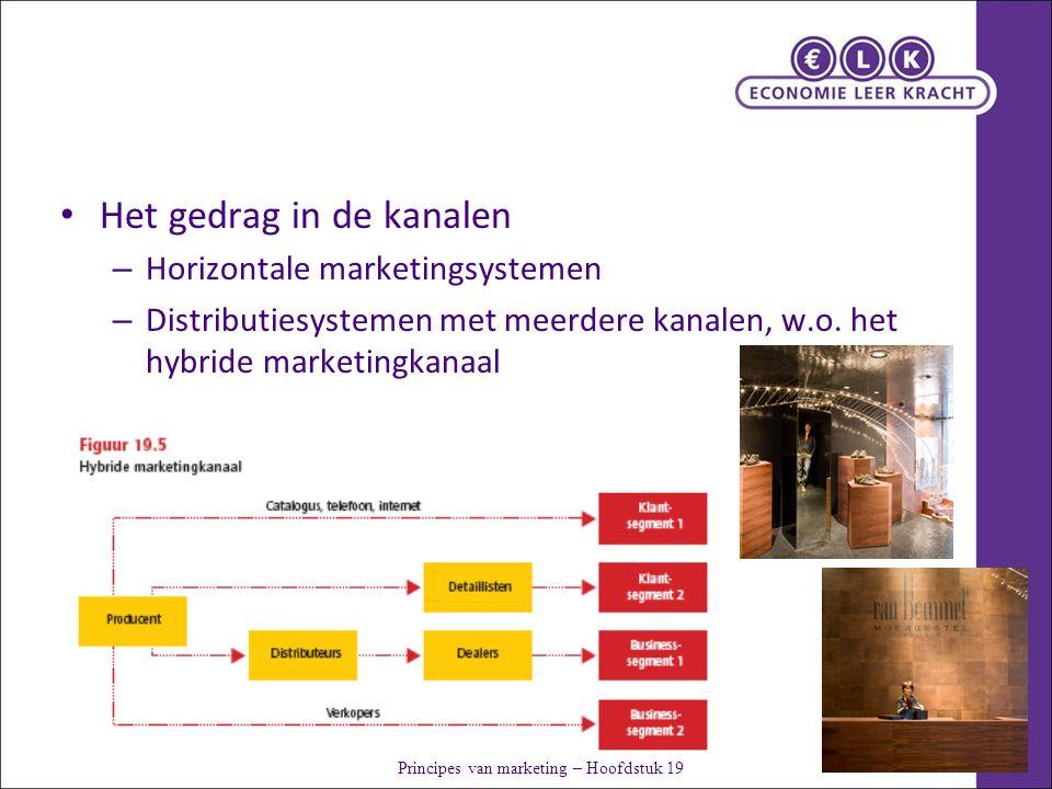 Het gedrag in de kanalen – Horizontale marketingsystemen – Distributiesystemen met meerdere kanalen, w.o.