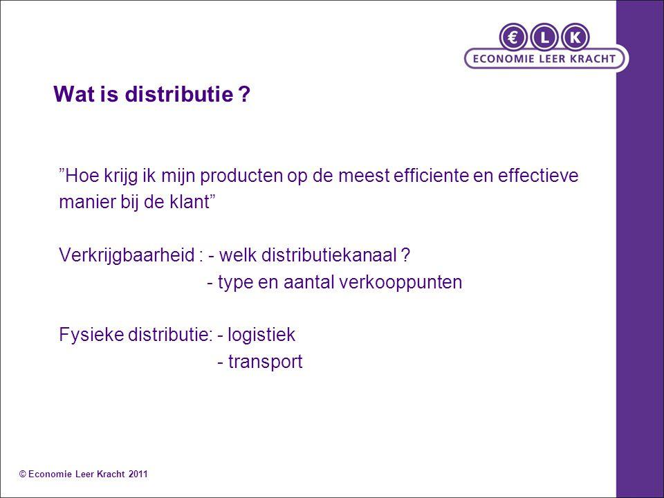 Wat is distributie .