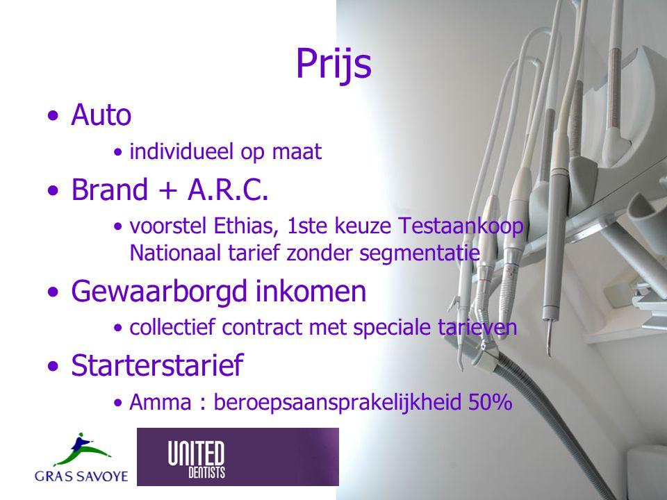 Prijs Auto individueel op maat Brand + A.R.C.