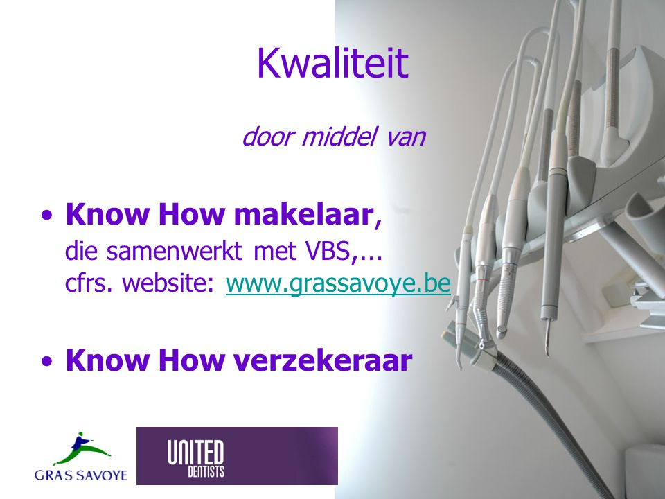 Kwaliteit door middel van Know How makelaar, die samenwerkt met VBS,… cfrs.