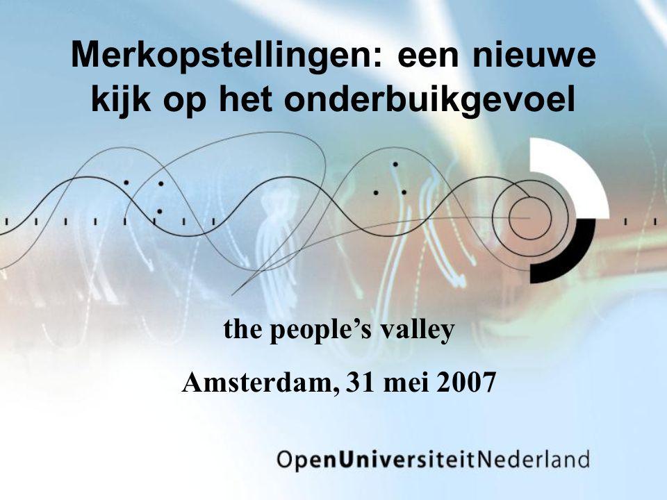 Merkopstellingen: een nieuwe kijk op het onderbuikgevoel the people's valley Amsterdam, 31 mei 2007