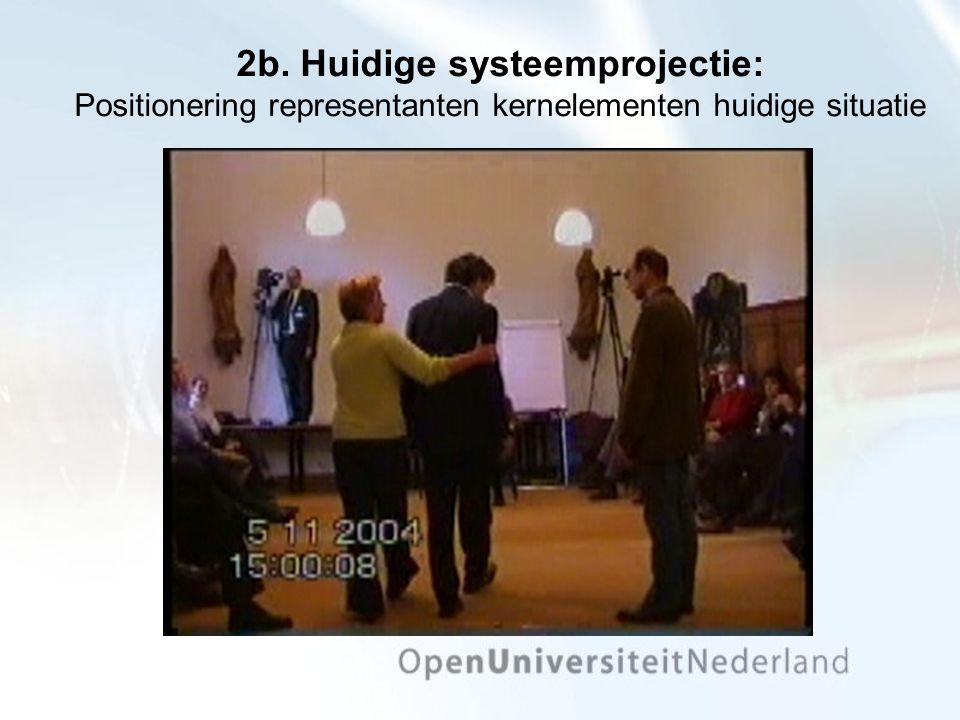 2b. Huidige systeemprojectie: Positionering representanten kernelementen huidige situatie