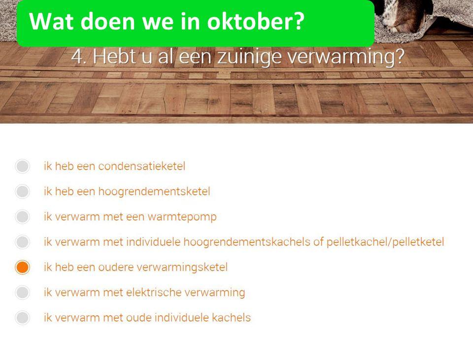 Wat doen we in oktober?