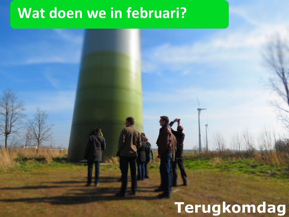 Wat doen we in februari? Terugkomdag