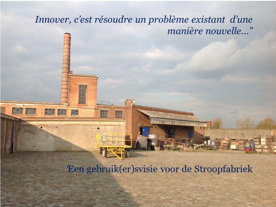 """Innover, c'est résoudre un problème existant d'une manière nouvelle…"""" 'Een gebruik(er)svisie voor de Stroopfabriek"""