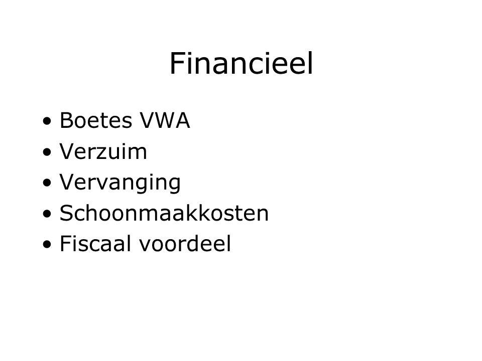 Financieel Boetes VWA Verzuim Vervanging Schoonmaakkosten Fiscaal voordeel