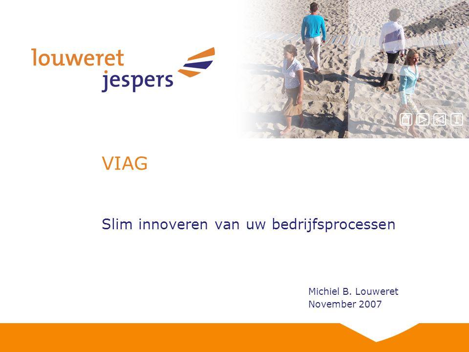 VIAG Slim innoveren van uw bedrijfsprocessen Michiel B. Louweret November 2007