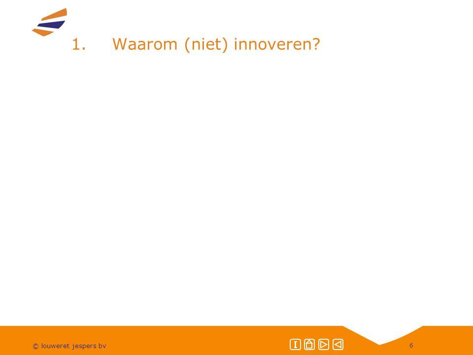 © louweret jespers bv 6 1.Waarom (niet) innoveren?