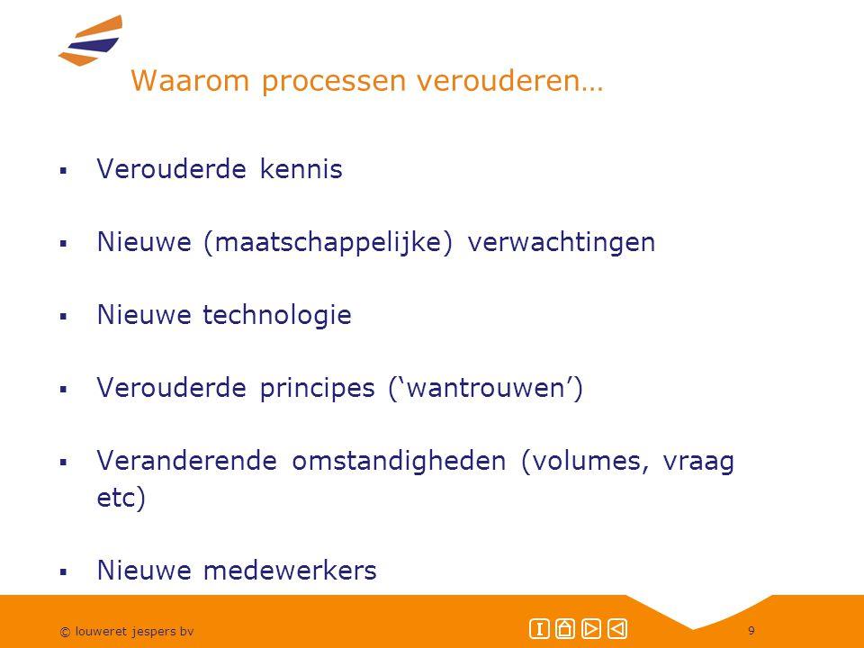 © louweret jespers bv 30 Wat doen de proceseigenaar en de procesmanager.