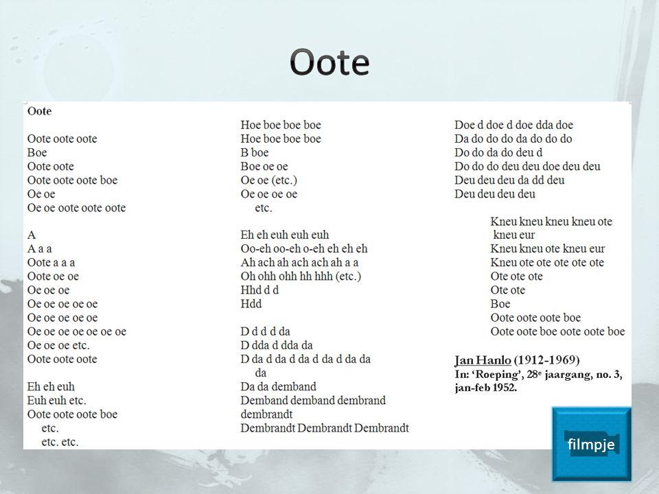 Wat vind je van Oote.Waarop lijkt het. Verschil met gewoon gedicht.