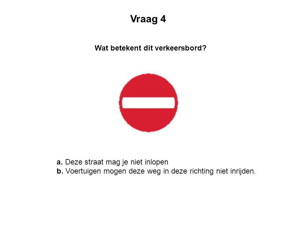Wat betekent dit verkeersbord.a. Verboden voor auto's b.