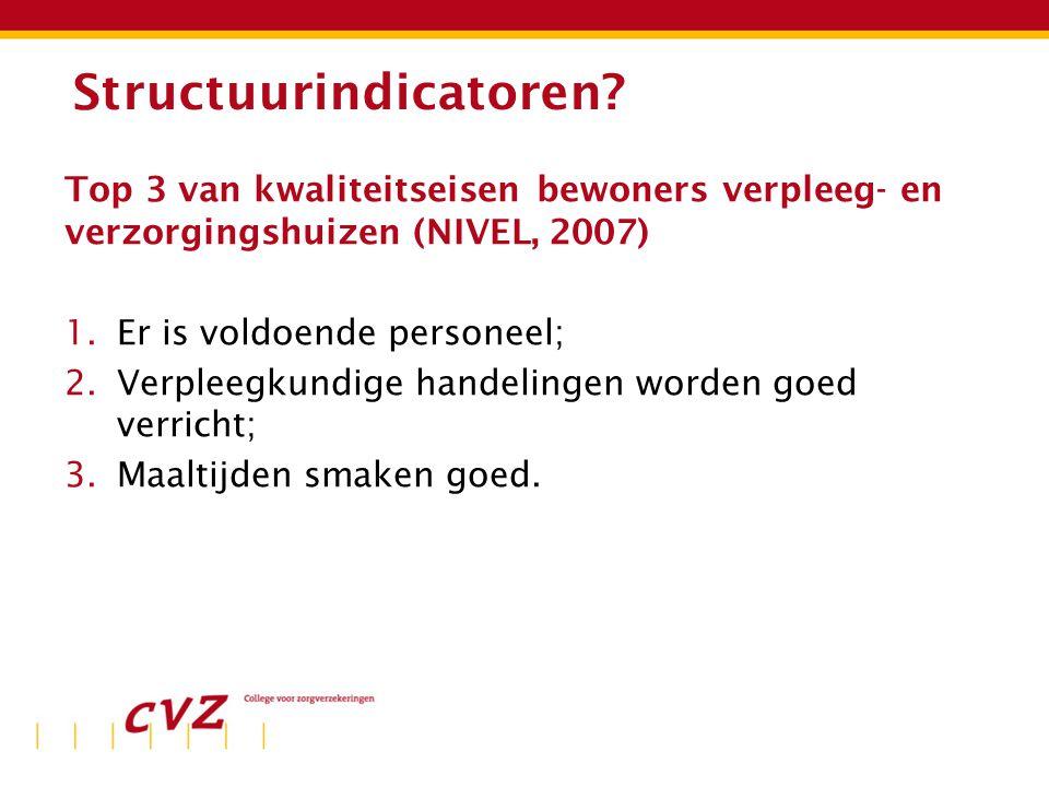 Ervaren beschikbaarheid personeel (bron: CQ-index, www.gezondheidsbalans.nl)