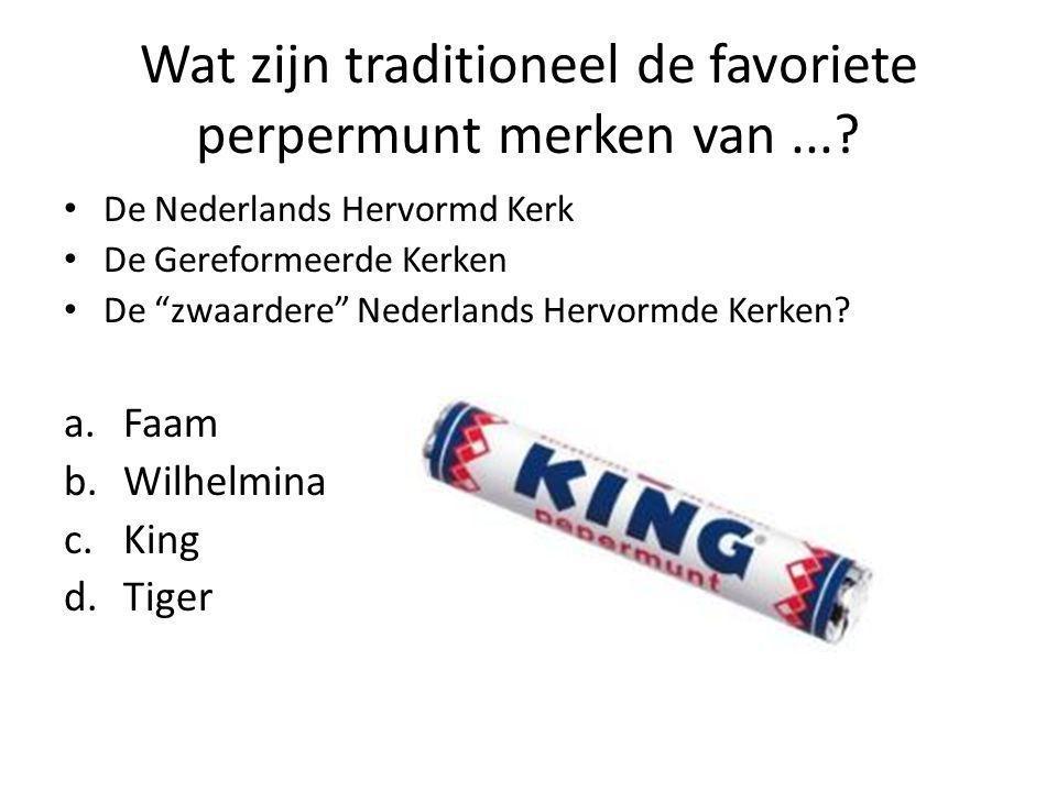 Wat zijn traditioneel de favoriete perpermunt merken van....