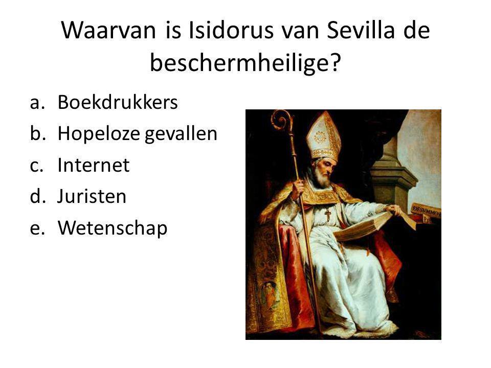 Waarvan is Isidorus van Sevilla de beschermheilige.