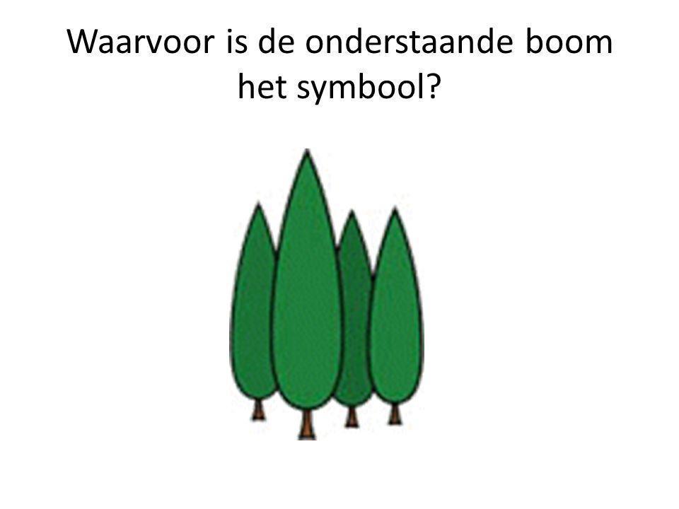 Waarvoor is de onderstaande boom het symbool